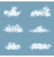 Transparency Gradient Clouds Set vector image
