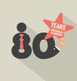 80 Years Anniversary Typography Design Illu