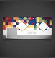 abstract background social media cover desgin vector image