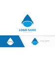 abstract waterdrop logo alternative energy vector image