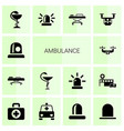 ambulance icons vector image vector image