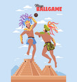 ancient maya sports background vector image vector image