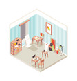 artist studio interior painting place exhibition vector image vector image