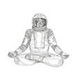 astronaut lotus position mandala vector image