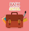 back to school label with portfolio vector image vector image