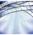 background with filmstrip vector image
