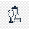 beer tap concept linear icon isolated on vector image