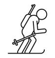 biathlon skiing icon outline style vector image vector image