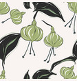 botanical pattern with tender green pastel vector image vector image