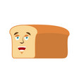 bread happy emoji piece of bread laughs emotion vector image vector image