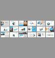 business presentation slides templates vector image vector image