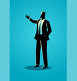 businessman gesturing with hand vector image vector image