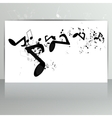 Card with abstract background with music notes vector image vector image