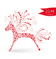 Chinese New Year of the Horse vector image vector image