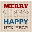Christmas card with typography design vector image vector image