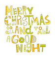 Christmas greetings decorative lettering for