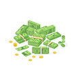 collection isometric cash money or currency vector image vector image