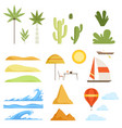 collection of tropical landscape constructor vector image vector image