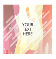 colorful background with typography vector image vector image