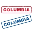 Columbia Rubber Stamps vector image vector image