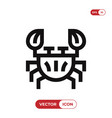 crustacean icon vector image