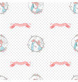 cute couple valentine seamless pattern eps10 vector image
