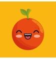 cute kawaii orange food juicy vector image vector image