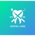 Dental logo emblem vector image vector image
