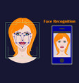 face recognition biometric security system with a vector image