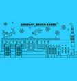 germany baden-baden winter holidays skyline vector image vector image