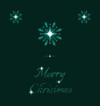 green shine holidays ice frost snowflakes banner vector image vector image