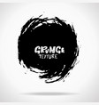 grunge ink round brush strokes freehand black vector image