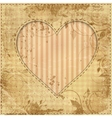 heart on old paper vector image vector image