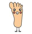 human foot plant kawaii character vector image vector image