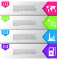 industrial concept info graphic designclean vector image vector image