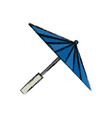 japanese umbrella isolated vector image vector image