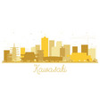 kawasaki japan city skyline silhouette with vector image