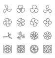 linear fan icons vector image vector image