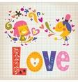 Love 5 vector image vector image