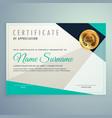 modern elegant certificate design with geometric vector image vector image