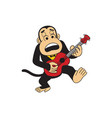 monkey playing guitar vector image