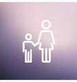 Mother and child thin line icon vector image vector image
