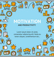 motivation and productivity signs round design vector image