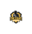 muay thai boxing badge logo design inspiration vector image