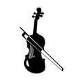 musical instrument silhouette violin vector image vector image