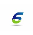 Number six 6 logo icon vector image vector image