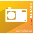 Photo camera icon symbol Flat modern web design vector image