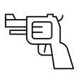 pistol thin line icon gun isolated vector image vector image
