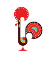 portugal rooster flat style one white vector image