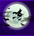 poster on theme of halloween holiday party vector image